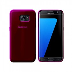 GEL COVER TRASPARENTE ROSA SAMSUNG GALAXY S7 EDGE