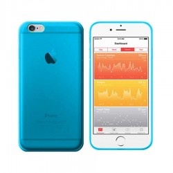 GEL COVER TRASPARENTE BLU IPHONE 6 - 6S PLUS