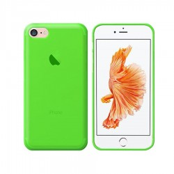 GEL COVER TRASPARENTE VERDE IPHONE 7
