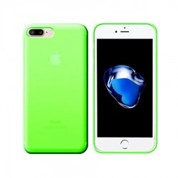 GEL COVER TRASPARENTE VERDE IPHONE 7 PLUS