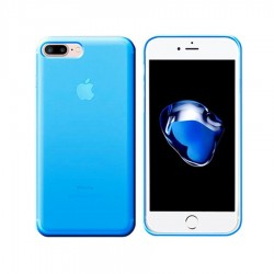 GEL COVER TRASPARENTE AZZURRA IPHONE 7 PLUS