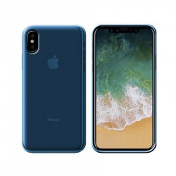 GEL COVER IPHONE XS AZZURRO