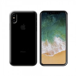 GEL COVER IPHONE XS MAX NERO FUME'