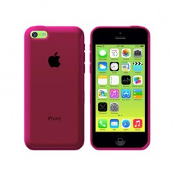 GEL COVER TRASPARENTE ROSA IPHONE 5C